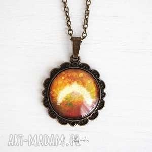 naszyjniki medalion, talizman - bogactwo antyczny brąz, naszyjnik, medalion