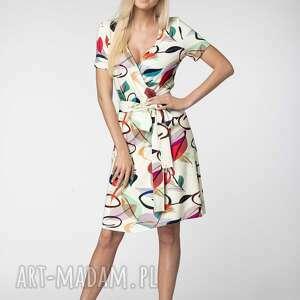 lukome sukienka sara, elegancka sukienka, wiązana, z dekoltem