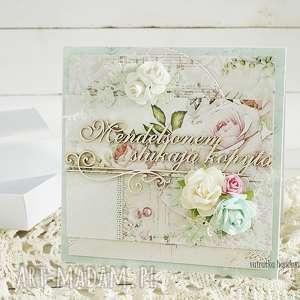 kartka ślubna w pudełku 156, wesele