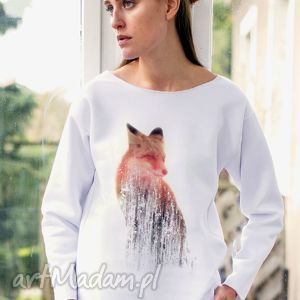 oryginalne prezenty, great as you fox oversize bluza, ubrania