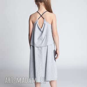sukienki sukienka dsu10, sukienka, bawełna, szelki, serce