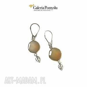 Kolczyki z Agatem, agat, srebro, 925