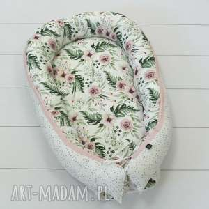 kokon, gniazdko niemowlęce blossom white, gniazdko, kwiaty