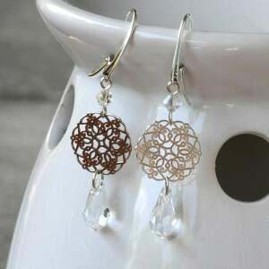 Kolczyki srebrne marrakesz z kryształem crystal bernas kolczyki