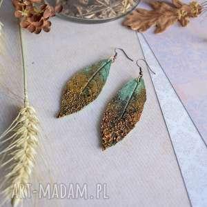 Rustykalne kolczyki liście sirius92 liście, kolczyki, jesienna