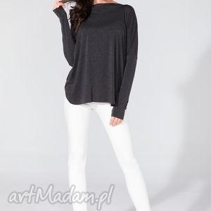 bluzki bluzka 2 w 1 t139 ciemnoszary, bluzka, szeroka, tuszująca, wygodna, fikuśna