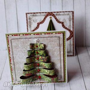 handmade pomysł na prezenty święta choinki, choinki - komplet kartek