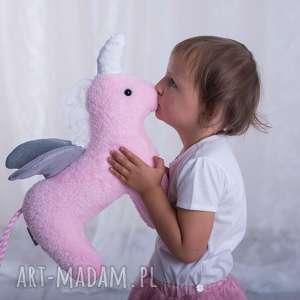 Przytulanka dziecięca jednorożec maskotki ateliermalegodesignu