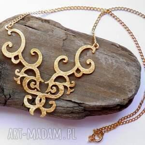 naszyjnik srebrny - złota florencja, naszyjnik, srebrny, biżuteria, autorska