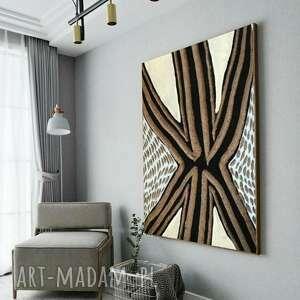 artesano - wielkoformatowy obraz na płótnie abstrakcyjny art, plotnie