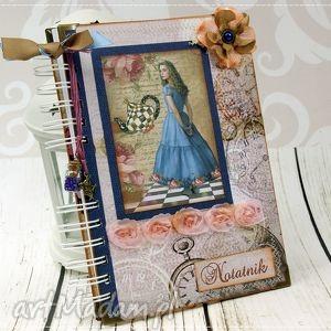 pamiętnik/notatnik- alicja, notatnik, sekretnik, pamiętnik, fantasy, notes