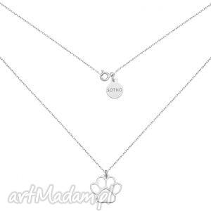srebrny naszyjnik z ażurową łapką - łańcuszek