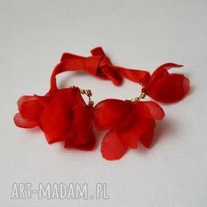 pod choinkę prezent, bransoletka z jedwabiu, czerwień, jedwab, aksamit