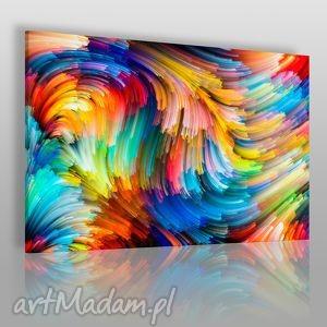 obraz na płótnie - kolorowe linie 120x80 cm 20901, linie, paski, kolory, kolorowy