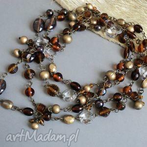 india - korale, naszyjnik, indyjski, długi, szkło
