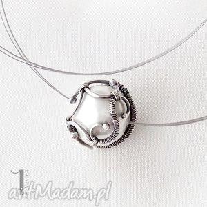 bianco - naszyjnik z perłą majorka miechunka - ażurowy, perła