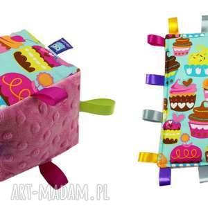 ręcznie zrobione zabawki komplet niemowlaka, wzór muffiny