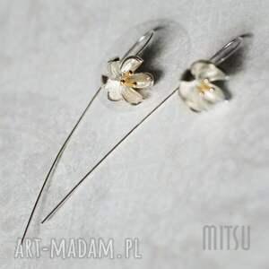 prezent na święta, kolczyki lilly, srebro, długie, kwiatowe, lilie, dla-niej