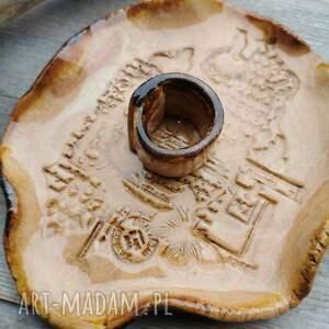 hand-made ceramika ceramiczny talerzyk do santo palo (c204)