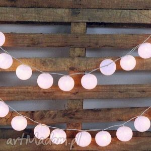 Qule Lampki Cotton Balls Light Śnieżnobiałe 35 qul, wesele, przyjęcie, kule, lampki