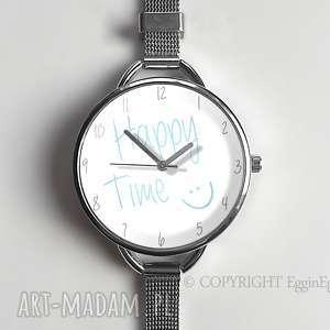 zegarek damski delikatny szczęśliwy czas, zegarek-damski, zegarek-z-bransoletą