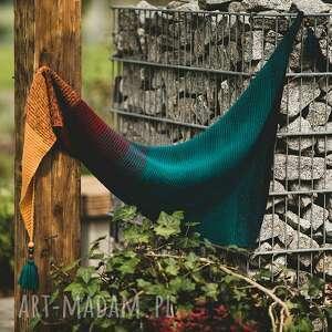 energetyczna chusta asymetryczna - szydełko szal, szydełko, rękodzieło