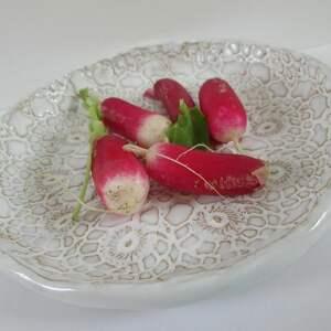 ręcznie robione ceramika koronkowa miseczka biała
