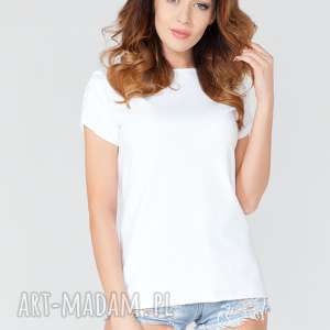 handmade bluzki bluzka z odkrytymi plecami t120 kolor biały - tessita