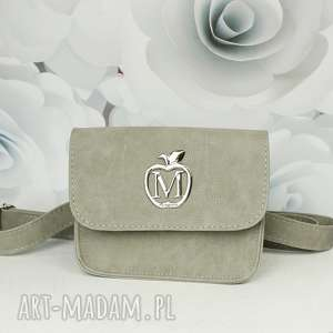 ręczne wykonanie mini manzana torebka elegancka koprtówka / nerka szara