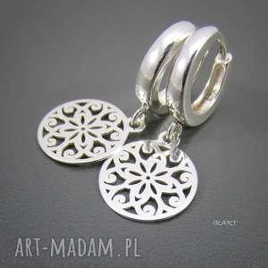 Ażurowe blaszki - kolczyki, srebro, ażurowe