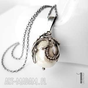 handmade naszyjniki margaritari srebrny naszyjnik z perłą majorka