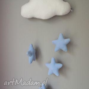 chmurki - mobil ozdoba pokoju, chmurki, gwiazdki, mobil, ozdoba, zawieszka, święta