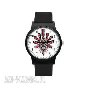 zegarek z silikonowym paskiem parzenica, góralski, folklor, prezent, upominek