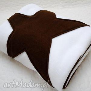 looli koc narzuta pled - l 145x200 gwiazdka basic czekolada, koc, narzuta