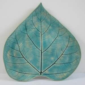 ceramika niebieski dekor talerzyk liść, ceramiczny ceramiczna, roślinna