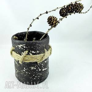 polepione pojemnik ceramiczny, ceramika, pojemnik, prezent, kwiaty, dekoracje