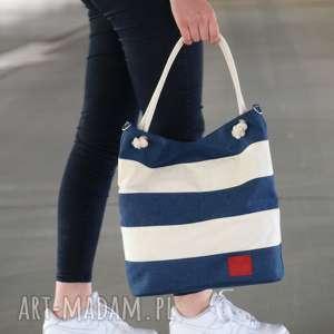 Prezent torba marine pasy, torba, torebka, damska, weekendowa, prezent
