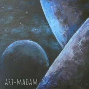 piąta planeta - olej na płótnie, obraz abstrakcja