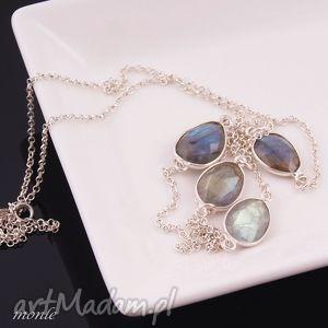 labradoryt długi naszyjnik monle - biżuteria, srebro