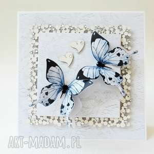 hand-made scrapbooking kartki z motylami