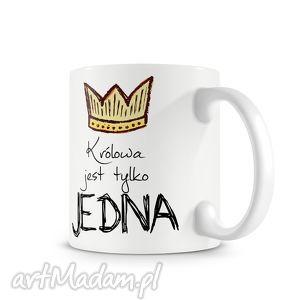 Prezent KUBEK - królowa jest tylko jedna, kubek, prezent, mama, królowa, kawa