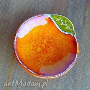 ceramiczna pomarańcza - miseczka, fusetka, pomarańcza, ceramika, rękodzieło