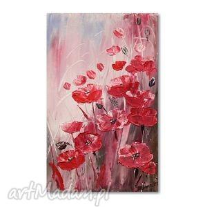 oryginalny prezent, aleksandrab maki, obraz akrylowy, kwiaty, obraz, obrazy