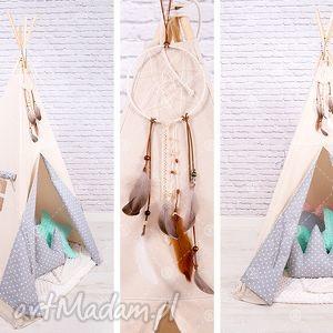 tipi namiot do pokoju lub ogrodu - szare serduszka - tipi, namiot