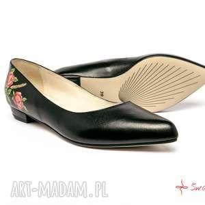 Baleriny pienińskie buty swarne folk, ludowe, pieniny, malowane,