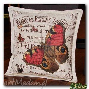 poduszka dekoracyjna , poduszka, poszewka, bawewna, juta, dekoracja, napisy dom