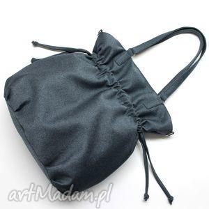 hobo sack - sakiewka tkanina granatowa, hobo, sack, elegancka, nowoczesna