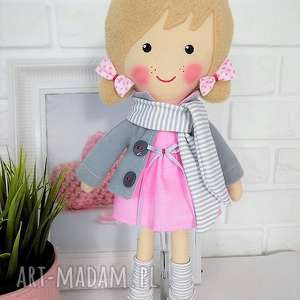Prezent MALOWANA LALA AŚKA Z SZALIKIEM, lalka, zabawka, przytulanka, prezent
