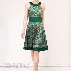 Sukienka kamala sukienki pawel kuzik jedwabna, plisowana