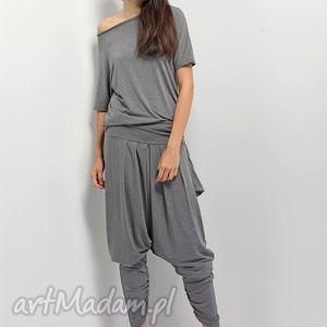 Komplet szary - limitowana kolekcja Plumeria SS2013, spodnie, bluzka,